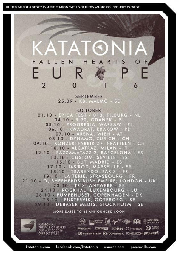Katatonia 2016 tour