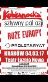 Kobranocka, Sztywny Pal Azji, Róże Europy, Proletaryat / 4.03.17 / Kraków / Teatr Łaźnia Nowa