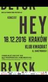 Hey / 18.12.16 / Kraków / Klub Kwadrat